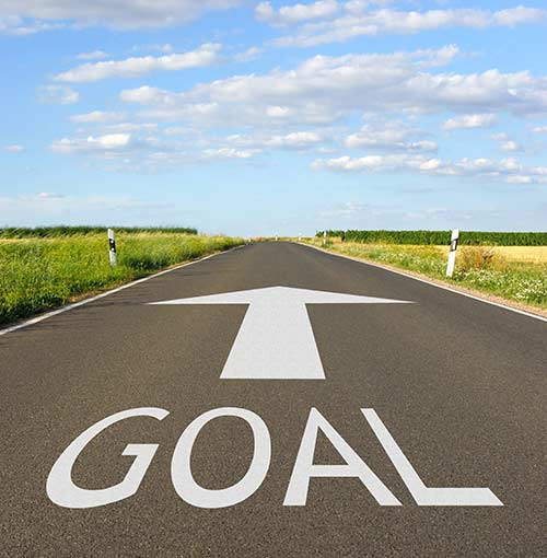 Overview goal setting road